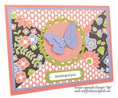 Berry Blossom Thinking of You Card Creations by Beth
