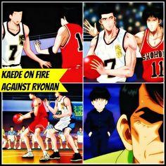 Kaede Rukawa heats up the game against Ryonan with his incredible plays while scoring against his arch rival Akira Sendoh Slam Dunk, Akira, Soundtrack, The Incredibles, English, Sd, Plays, Arch, Movie Posters