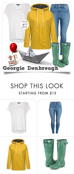 """Georgie Denbrough"" by curvygeekyfangirl ❤ liked on Polyvore featuring River Island and H&M"
