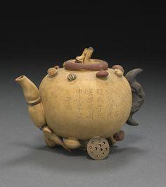 An Yixing 'hundred-fruit' covered teapot