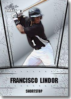 2011 Leaf Draft Silver Prospects Baseball Card #17 Francisco Lindor - Cleveland Indians (Prismatic Design)(Rookie / Prospect)(Baseball…