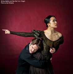 Xiao Nan Yu and McGee Maddox in Onegin. Photo by Sian Richards.