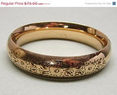 Early Bird Shopper Sale Gold Filled Bangle Bracelet by COBAYLEY, $60.00