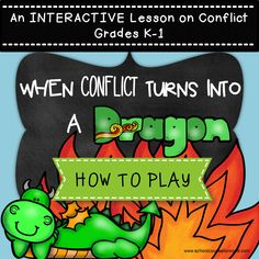 An INTERACTIVE guidance lesson on Conflict for Grades K-1. NEVER create another guidance lesson again with our aligned #ASCA #K-6 guidance lessons! We've got more lesson plans, all which are aligned for grades K-6! Each lesson plan has a Word doc for each grade level and an interactive Power Point Show that includes all activities and PDF printables. #Conflict #Resolution | Elementary Guidance Lessons | #School #Counselor #Character #Friendships #Elementary