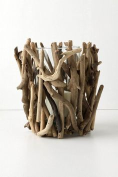 Driftwood Candle Holders by Anthropologie
