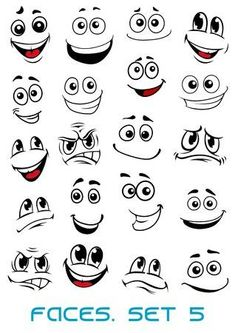Buy Cartoon Faces with Different Expressions by VectorTradition on GraphicRiver. Cartoon faces with different expressions, mostly happy and smiling, featuring the eyes and mouth, design elements on . Pebble Painting, Pebble Art, Stone Painting, Rock Painting Ideas Easy, Rock Painting Designs, Painting Tutorials, Stone Crafts, Rock Crafts, Cartoon Expression