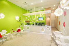 Fresh Bluberi frozen yogurt shop interior design by Emmanuelle Moureaux