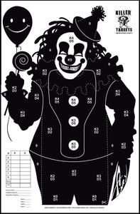 "Killer Clown - target practice (would make a great ""pin the tail"" game for the kids Halloween party! Creepy Carnival, Creepy Clown, Carnival Games, Shooting Zombies, Paper Shooting Targets, Nerf Games, Sniper Training, Nerf Party, Cheap Stickers"