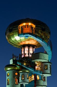 Hunderwasser Tower, Bavaria, Germany. Considering we live in Bavaria, this probably can't be too far away from us!!