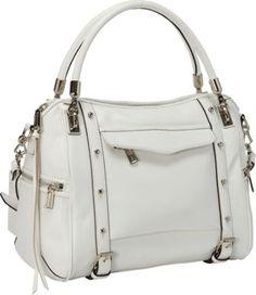 Rebecca Minkoff Cupid Flap Pocket Convertible Satchel Handbag White - via eBags.com!