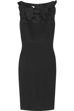 Moschino Cheap and Chic. Bow-detailed crepe dress.