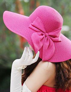 79e85323 Women's Wide Brim Bow Straw Floppy Hat 3013308 2017 – $11.11 Sombrero De  Ala Ancha,