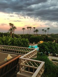 Watching the clouds roll in at The Phoenician Resort at the base of Camelback Mountain.