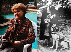 This is Elfriede Rinkel. In her twenties she was a guard at Ravensbrück. At the tail end of the Second World War, from June 1944 to April 1945, she was an acting handler of the viciously trained SS guard dogs. In 1959 Rinkel left for the United States where she was admitted as an immigrant. In the 1960s she met a German Jew, Fred William Rinkel and they married in 1962. Her husband had fled Nazi Germany and escaped the Holocaust but died never knowing of his wife's past.