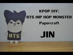 KPOP DIY: BTS HIP HOP MONSTER Papercraft: JIN - YouTube