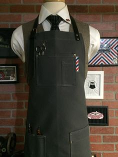 A personal favorite from my Etsy shop https://www.etsy.com/listing/293243951/barber-apron