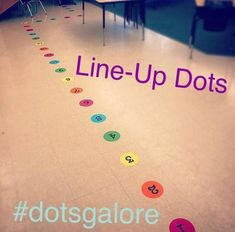 Classroom Line-Up Dots Kindergarten Classroom Decor, Preschool Rooms, First Grade Classroom, New Classroom, Classroom Design, Classroom Ideas, Elementary Classroom Themes, Diy Classroom Decorations, Seasonal Classrooms