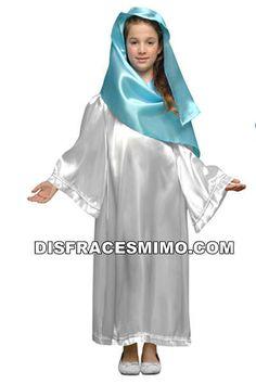 Tu mejor disfraz de virgen maria blanca infantiles para niñas bt 19757.Este comodísimo traje es perfecto para carnavales, espectáculos, cumpleaños. Este disfraz es ideal para tus fiestas temáticas de disfraces de navidad para niñas infantiles.