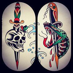 Skull and Snake Daggers