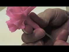 Tutorial Crafting Carnation with YuYi clay How To Make Rose, How To Make Clay, Polymer Clay Flowers, Ceramic Flowers, Silk Flowers, Sugar Flowers, Polymer Clay Kunst, Rose Clay, Fondant Tutorial
