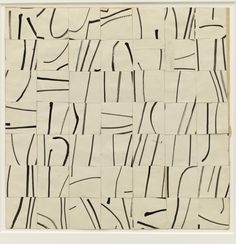 Ellsworth Kelly. Brushstrokes Cut into Forty-Nine Squares and Arranged by Chance. (1951).