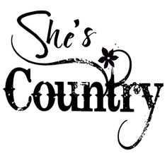 she's country