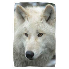 #Portrait of a polar wolf #towels #JAMFotoWorms #Zazzle.com