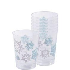 Snowflakes Plastic Tumblers 10oz 40ct