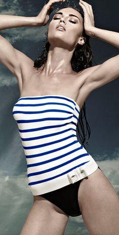 Diva 2013 Gilian Nautical Bandeau Swimsuit - Swimsuits