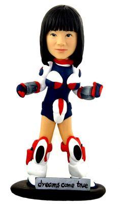 Personalized Head-to-Toe Cartoon Figurine - (Handmade from photos you send). $89.00, via Etsy.