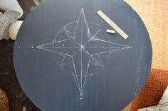 Beachwood Place: DIY Coastal Compass Table