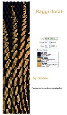 Raggi dorati Peyote Stitch Pattern