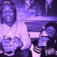 ASAP Rocky and Schoolboy Q, drinking and smoking. Rap Music, Music Love, Lord Pretty Flacko, Asap Mob, Schoolboy Q, Hip Hop Instrumental, A$ap Rocky, Hip Hop Rap, Rapper