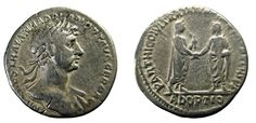 August 117 CE, Trajan's letter of adoption reaches Hadrian Inventions, Coins, Adoption, Lettering, Pure Products, Personalized Items, Roman, Foster Care Adoption, Coining