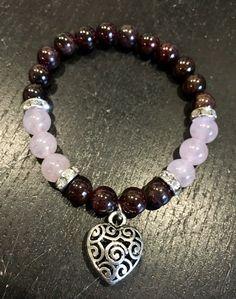 Love Energy Bracelet (Garnet & Rose Quartz)