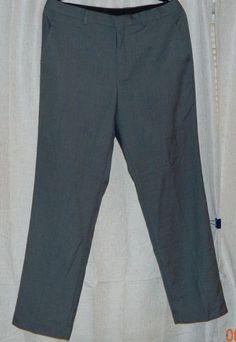 New men CALVIN KLEIN Flat Front Gray Dress Pants 33 X 30 #CalvinKlein #DressFlatFront