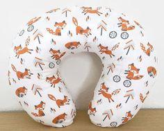 Nursing Pillow Cover Fox Woodland Tribal for Boppy Pillow -- Nursery Gender Neutral -- Breastfeeding Pillow Slipcover Minky Pillow Slip Covers, Nursing Pillow Cover, Baby Boy Rooms, Baby Boy Nurseries, Our Baby, Baby Love, Breastfeeding Pillow, Fox Nursery, Boppy Cover