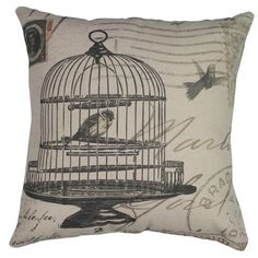 Birdcage Cushion by Madras Link $29.95