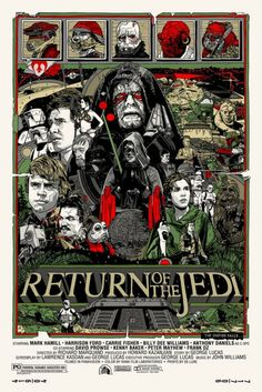 #3. Star Wars: Return of the Jedi. Directed by George Lucas. Starring Mark Hamill, Carrie Fisher, and Harrison Ford.