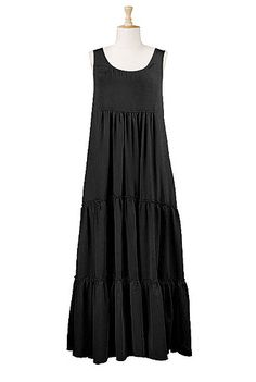 Tiered crepe maxi dress - I really need this!