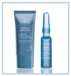 Thalgo Absolute Hydra-Marine Concentrate paired with Thalgo Source Marine Primer. Look Party Perfect anytime of year!  www.continentalcosmetics.com