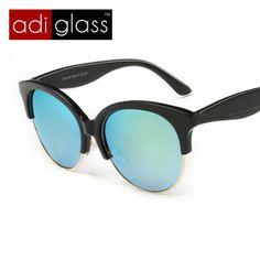 Encontrar Más Gafas de Sol Información acerca de Adiglass marca 2016 nueva  moda gafas de sol redondas mujeres marco de Metal Sun glasses espejo  Vintage ... a45a5e0a3c67