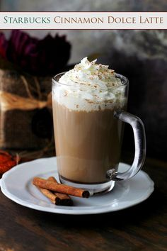 Starbucks Cinnamon Dolce Latte - An exact replica of Starbucks' deliciously sweet, warm and comforting Cinnamon Dolce Latte.