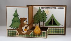 Singing Around the Campfire by Clownmom - Cards and Paper Crafts at Splitcoaststampers