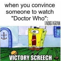 Doctor who, as well as just about every anime there is XD my sister can't stand them so it's always like a small triumph when I catch her looking at the screen