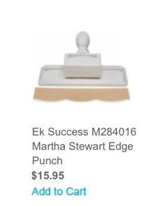 Perforatrice de la collection de Martha Stewart.