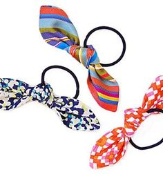 bow hair ties - see http://icewerks.blogspot.com/2013/02/little-lovely-bow-ties.html for a cuter pic that I couldn't pin