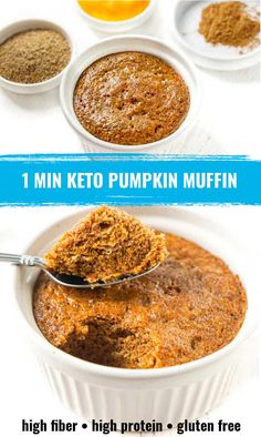 Low Carb Protein, High Protein Snacks, Protein Cake, Protein Cookies, Pumpkin Dishes, Pumpkin Muffin Recipes, Nutritious Breakfast, Healthy Muffins, Protein Muffins