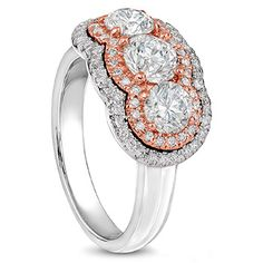 Gallery Sub - Déonne le Roux - The Designer Jeweller Three Stone Diamond Ring, Diamond Rings, Jewelry Design, White Gold, Wedding Rings, Engagement Rings, Jewels, Gallery, Rose