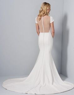 A I M E E // With our without the pearl embellished overskirt?  Aimee Gown by Allison Webb www.jlmcouture.com Aimee Gown - 42008 Brides And Bridesmaids, Bridesmaid Dresses, Wedding Dresses, Wedding Dress Undergarments, Wedding Gowns With Sleeves, Crepe Dress, Bridal Boutique, Fit And Flare, Bridal Gowns